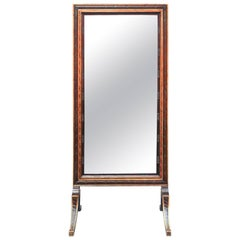 1900s Regency Style Cheval Mirror
