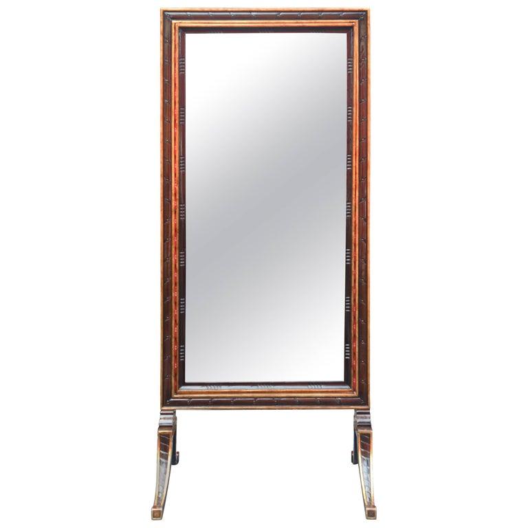 1900s Regency Style Cheval Mirror