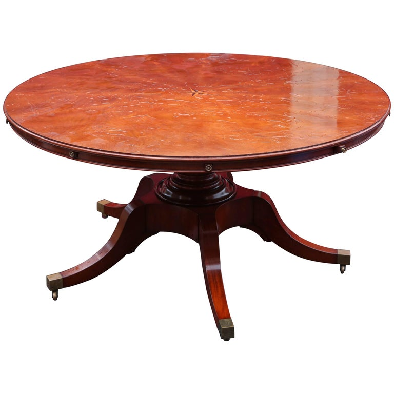 Amazing Large Mahogany Round Dining Table For Sale at 1stdibs : 8767373master from www.1stdibs.com size 768 x 768 jpeg 53kB