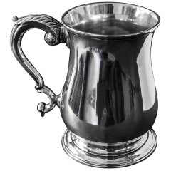 English Antique Georgian Silver Pint Mug