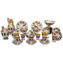 Early 19th Century Royal Worcester Tea and Coffee Service, Neoclassical Decor