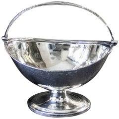 Antique English Georgian Silver Sugar Basket