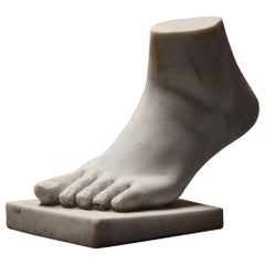 Late 19th Century Grand Tour Style Marble Sculpture of a Foot, after the Antique