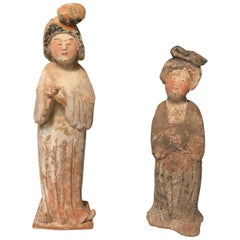 Pair of Tang Dynasty Court Ladies