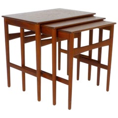 Teak Nesting Tables by Hans Wegner
