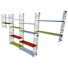 Extra Large Vintage Retro Metal Tomado Shelving Rack