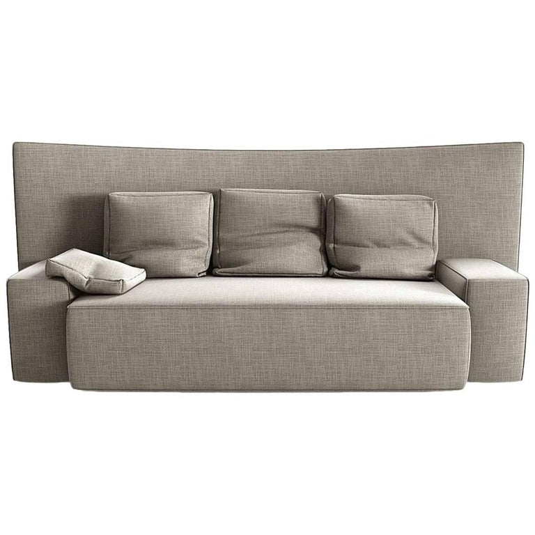 """Wow"" Two-Seat Sectional Sofa with Goose Feather by Philippe Starck for Driade"