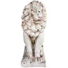 1920s Stone Lion Found in France