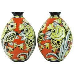 Pair of Vases by Boch Keramis