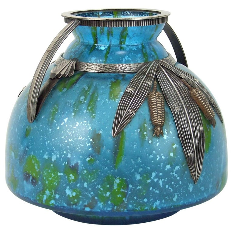 Large Art Deco Vase by Andre Villien and Andre Delatte
