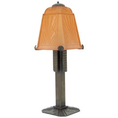 French Art Deco Table Lamp by Muller Freres