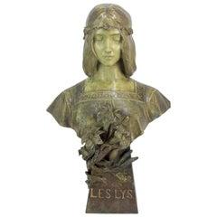 Art Nouveau Bust by Goldscheider, circa 1899