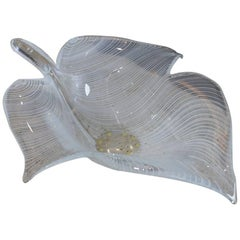 Large Murano Leaf Bowl by Licio Zanetti