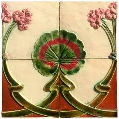 19th Century Art Nouveau Portuguese Azulejos