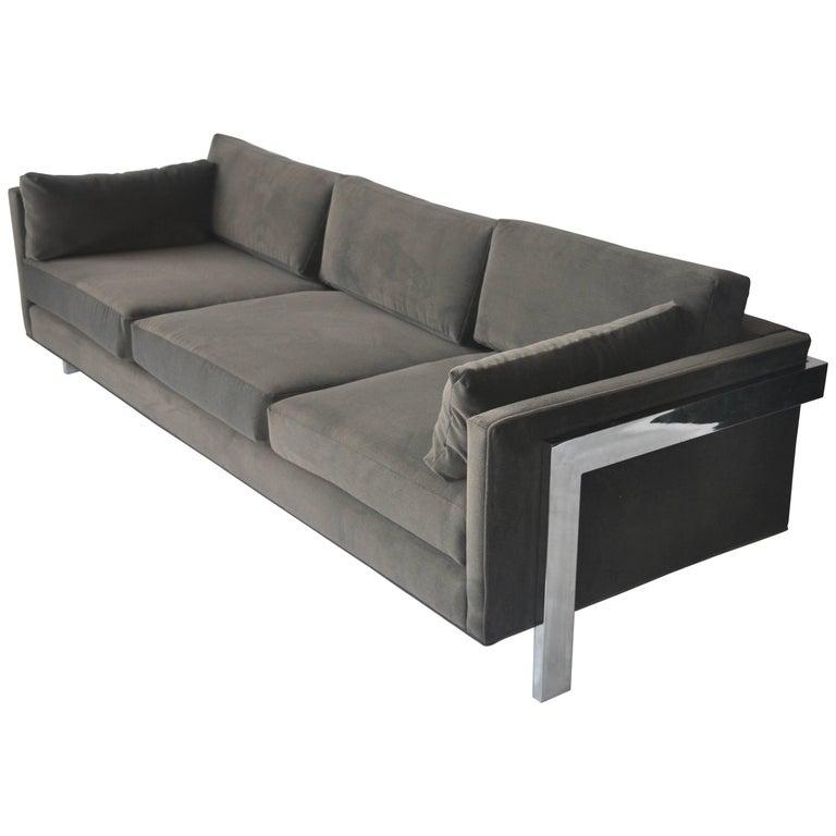 1970s Chrome Frame Sofa