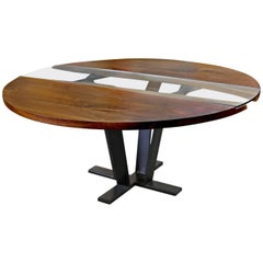 American Black Walnut Colorado Round Pedestal Table