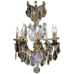 Mid-19th Century Ormolu and Crystal Chandelier by Cristalleries Baccarat, 1860