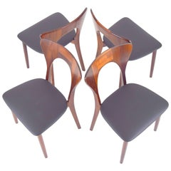 Niels Koefoed Set of Four Rosewood Peter Chairs