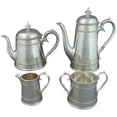 Victorian Sterling Silver Tea Service