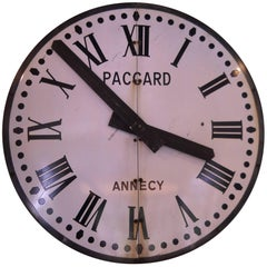 French Enamel and Metal Clock