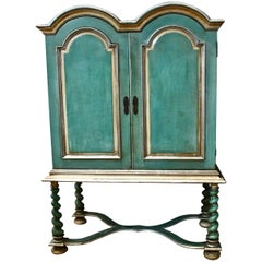 Green Painted Cabinet Commissioned by Basil Dean the Film Producer in 1920-1930