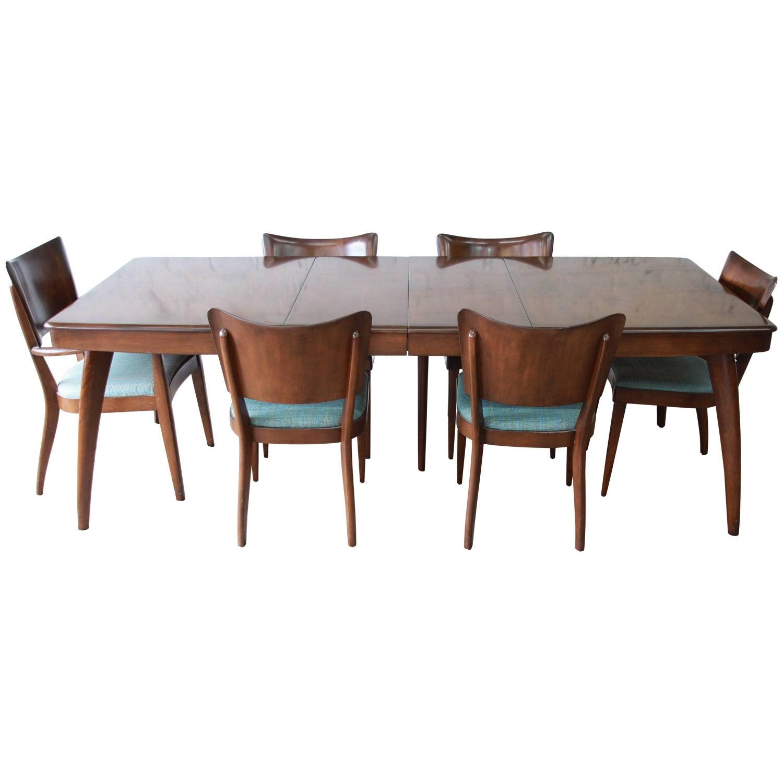 Rare Heywood Wakefield Mid Century Modern Stingray Dining Set at