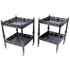Pair of Chinese-Style End Tables