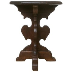 Italian Baroque Walnut Hexagonal Side Table