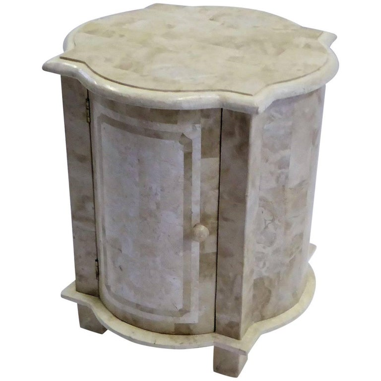 Tessellated Stone Nightstand End Table Marquis Collection of Beverly Hills