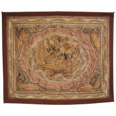 Decorative Tapestry Kalaga Depicting Garuda and Divinity Thailand