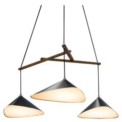 Large Daniel Becker 'Emily' Three-Shade Chandelier