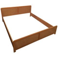 Wooden Cane Double Bed Frame