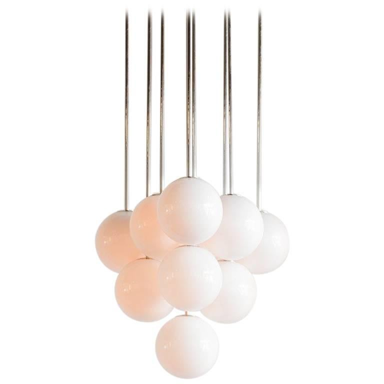Michael Anastassiades Polished Nickel Happy Together Pendant Chandelier Light For Sale