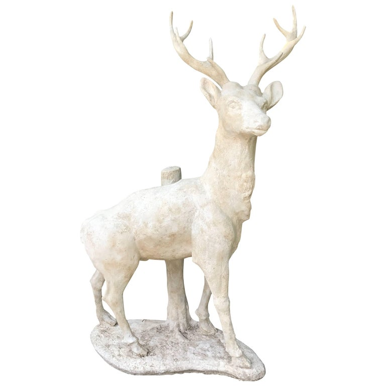 Large Standing Deer Statue For Sale