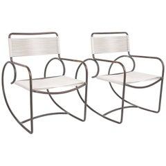 Pair of Walter Lamb Bronze Patio Rocking Chairs for Brown Jordan