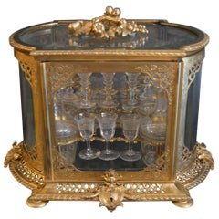 19th Century Bronze and Baccarat Crystal Tantalus