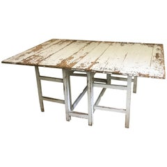 Swedish Drop-Leaf Slagbord Dining Table