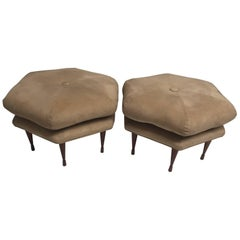 Smashing Pair of Danish Modern Ottomans