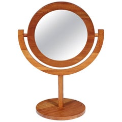 Scandinavian Modern Teak Tilting Vanity Mirror Attributed to Pedersen & Hansen
