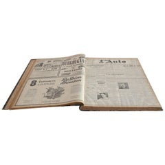 Bound Editions of L'Auto Newspaper, France, 1913