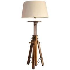 Table Lamp from Vintage Surveyor's Tripod