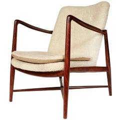 """Finn Juhl Rosewood """"Fireplace Chair"""" for Borvirke, Denmark, Model BO-59"""