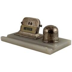 Wilmott Manufacturing Co. Art Deco Sterling Silver Desk Set