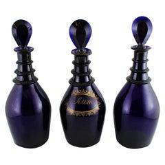 Bristol Blue Glass Regency Decanters