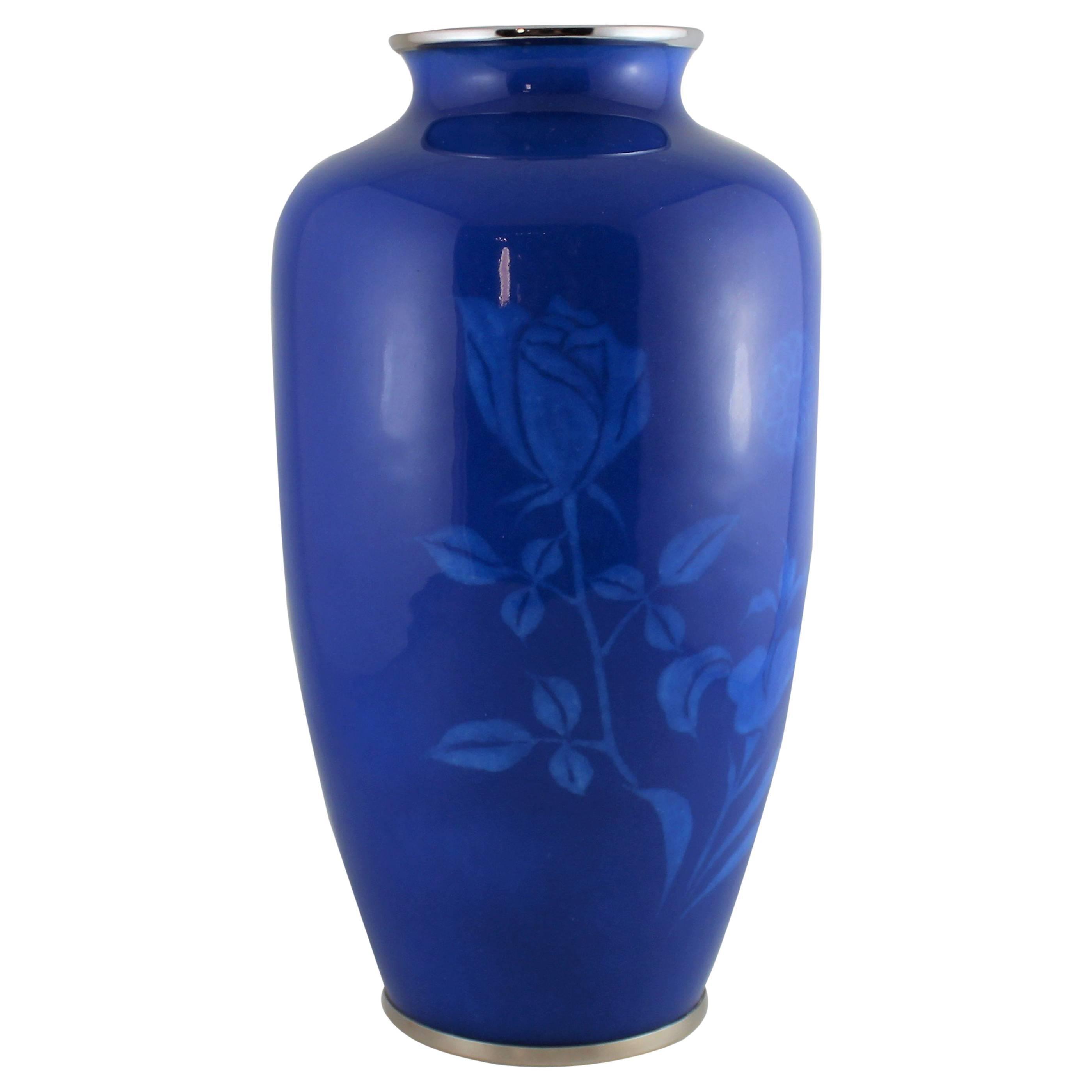 Japanese Wireless Cloisonne Vase