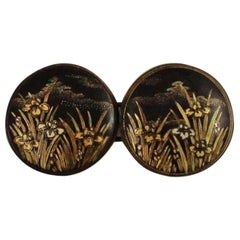 Japanese Damascene Belt Buckle