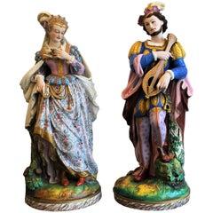 Monumental French Bisque Renaissance Figures