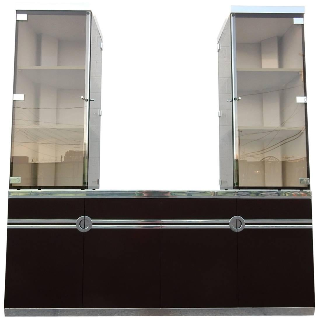 Designer Pierre Cardin Buffet Bar Cabinet Signed, circa 1970s