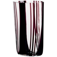 Neronatro Carlo Moretti Contemporary Mouth Blown Murano Glass Vase