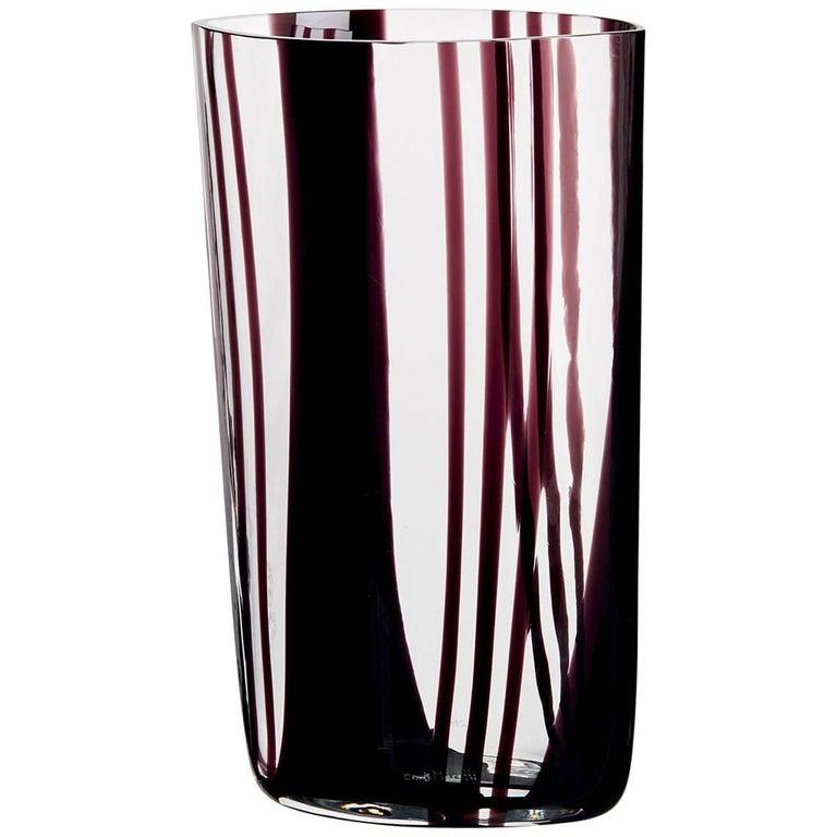 Neronatro Carlo Moretti Contemporary Mouth Blown Murano Glass Vase